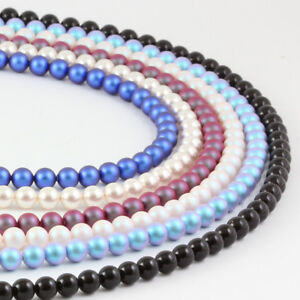 Sterling Silver Necklace 48cm+5cm made with 5810 6mm Pearls Swarovski® Crystals