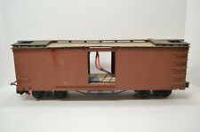 Aristo Craft G Scale Wood Reefer Box Car with a Crest CRE 55470 Receiver Unit