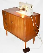 60s Singer 449 Sewing Machine in Danish Style Teak Sideboard Cabinet [PL3400]