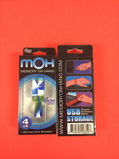 Memory on Hand (MOH) 4gb USB Flash Drive Wristband BLUE/GREEN MARBLE LOOK