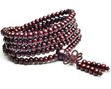 Rosenholz Mala 216 Perlen Buddhistische Gebetskette Rosenkranz Holz Armband 85cm