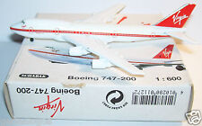 SCHABAK AIRCRAFT AVION PLANE METAL BOEING 747-200 VIRGIN REF 901/127 BOX 1/600