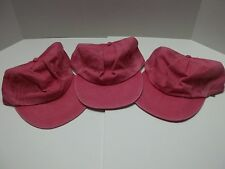 Pink Denim hats with a Leather strap