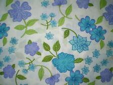 Vintage Retro PURPLE & BLUE FLORAL Fabric (55cm x 46cm)