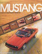 Auto Brochure - Ford - Mustang - 1981 - Ghia Cobra (AB179)
