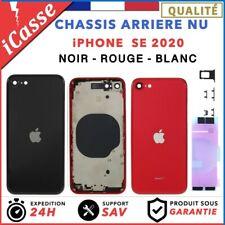 Chassis Arriere Coque nu pour iPhone SE 2020 NOIR BLANC (Argent) ROUGE + COLLE