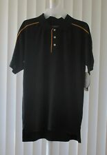 Polo Shirt Short Sleeve Gold's Gym Black Gold Size XS