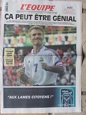 L'Equipe du 28/6/2000 - Euro Foot : les Bleus pour une place en finale-Sotomayor