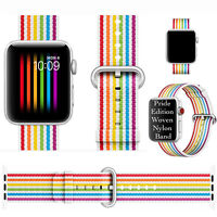 100% New Pride Edition Woven Nylon Band For Apple Watch 42mm 44mm  Series1 2 3 4