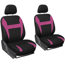 Car Seat Cover Pink Black 6pc Set Bucket for Auto w/Detachable Head Rest Mesh