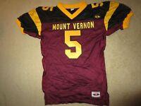 Mt. Vernon High School Knights #5 Football Team Game Worn Jersey LG L