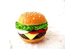 Hamburger Fast Food 3D Fridge Magnet Resin Souvenir Memo Holder Gift Kitchen