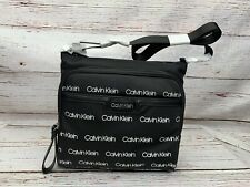 NWT Calvin Klein Women's  Logo Crossbody Bag Black