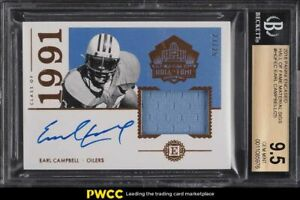 2018 Panini Encased Hall Of Fame Earl Campbell PATCH AUTO /25 BGS 9.5 GEM MINT