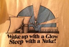 Vintage Wake Up With A Glow Sleep With A Nuke T Shirt 1980s 50/50