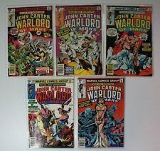 John Carter Warlord of Mars Vol. 1 Issues #1-3,10, & 11 Marvel 5 Comic Book Lot