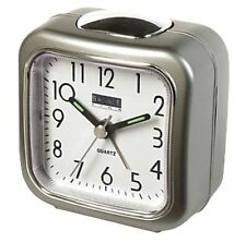 Quartz Bedside / Travel Alarm Clock Analogue Easy Read Lighting Snooze Function