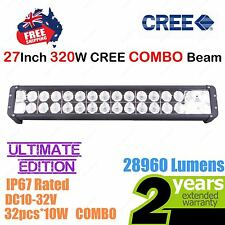 27inch 320W CREE LED Light Bar High Output Ultimate Edition Double Row COMBO