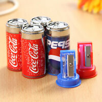 Hot 2pcs Cola Drink Can Pencil Sharpener With Eraser Student School Supplies Kid