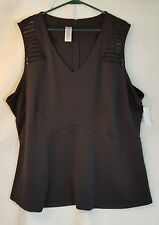 Womens Simply Emma sleeveless black top.  NWT.   3X
