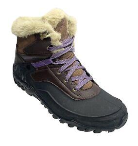 Merrell Fluorecein Shell 6 Women's Waterproof Snow Boots Chocolate Brown Size 9