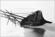 Poster Print: Shipwreck: Steel Hulled Bark Fortuna Rolled Hard Over, NJ, 1910