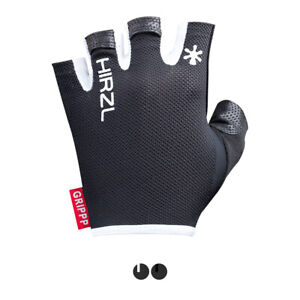 HIRZL Grippp Light SF Short Finger Black Cycling Leather Gloves