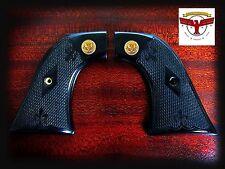 Ruger Super Blackhawk Black Diamond Grips + Checkering + Gold Liberty Eagle