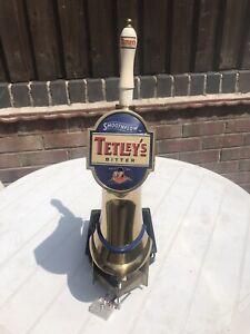 Vintage Tetley Bitter Smoothflow Metered Beer Pump