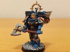 Warhammer Space Marines Captain Lord Executioner Painted Assault Ultramarine