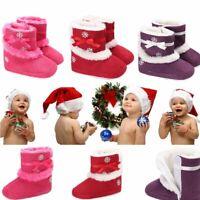 prewalker bébé fond mou des bottes fuzzy flocon de neige chaussures de bébé