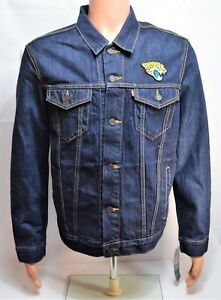 Levis NFL Jacksonville Jaguars Denim Trucker Jacket Sz Large L NEW 284960016