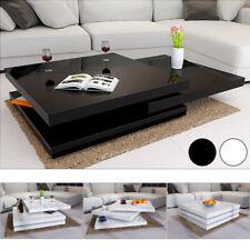 Couchtisch Wohnzimmertisch Hochglanz Beistelltisch Couch Sofa Tisch Weiß Schwarz