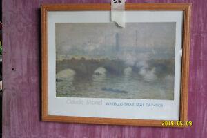 Print of Waterloo Bridge on a Grey Day by Claude Monet. 1903.