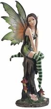 Fairy Collection Pixie with Clear Wings Fantasy Figurine Decoration, New, Free S