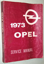 1973 Opel 1900 Manta Gt Service manual (Fits: More than one vehicle)