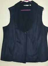 D&CO  Women winter Vest sleeveless jacket Blue XL