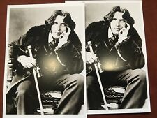 2 Vintage Postcards: Oscar Wilde, Irish poet and playwright, London Fame