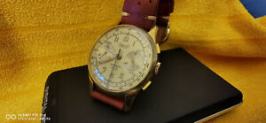 DreffA ORIGINAL Armbanduhr Handaufzug Chronograph 60s entsprechend TOP SELTEN