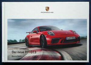 Prospekt brochure Porsche neuer 911 GT3 (D, 2017)