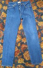VTG 501 XX Levi's Jeans Straight Leg Red Tab Button Fly Distressed 32x35 #J EUC
