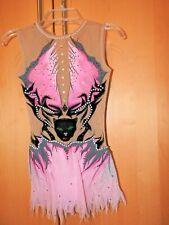 RSG Rhythmic Gymnastics Anzug Leotard Gr. 140 NP 400€ Pink Panther Strass w.NEU