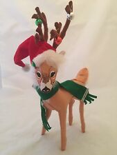 """ANNALEE 12"""" SILVER SPARKLE REINDEER - CHRISTMAS - NEW with Tag 2013  (3342)"""