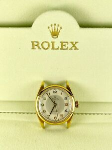 ROLEX Precision Oyster Date SS/Gold Plated Antique 34mm Reference 6094