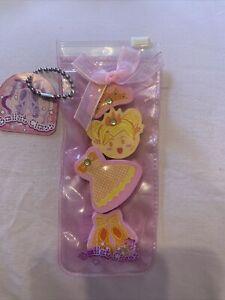 Ballerina Pink And Yellow  Erasers Set - BNIP