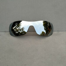 Silver Mirrored Replacement Lenses for-Oakley Batwolf Sunglasses Polarized
