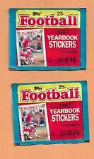 Vintage Topps 1987 Yearbook Pegatinas Lot Of 2