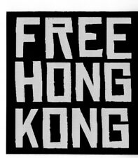 "5 BUMPER STICKERS ""FREE HONG KONG"" DECAL 3X3 INCHES CHINA PROTEST"