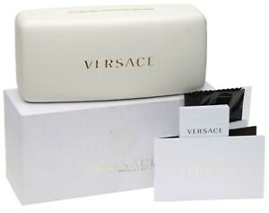 NEW VERSACE LARGE WHITE CASE For Eyeglasses Sunglasses w/ Accessories 162x72x65