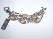 Bracciale nomination in acciaio con elementi swarovski fumè